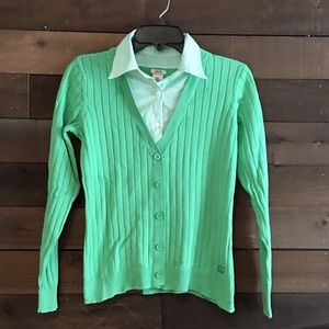 Izod faux shirt and pullover size small